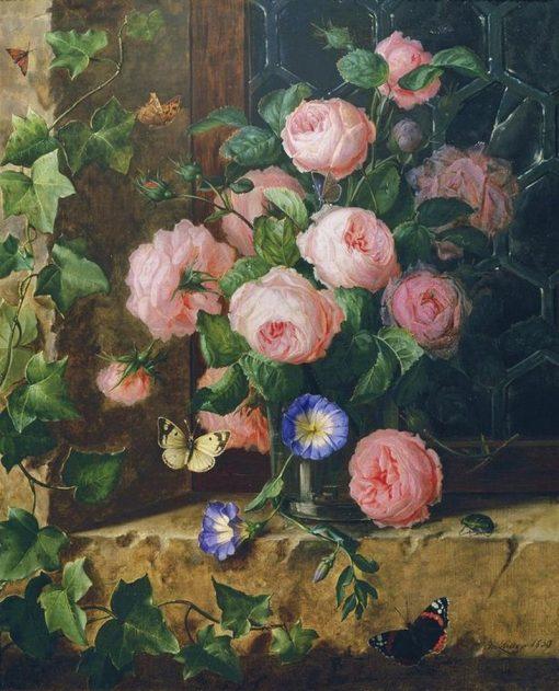 Flower still life with gerbera | Josef Lauer | Oil Painting