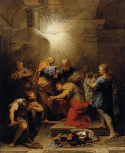 Ananias Restoring the Sight of St Paul | Jean Restout | Oil Painting