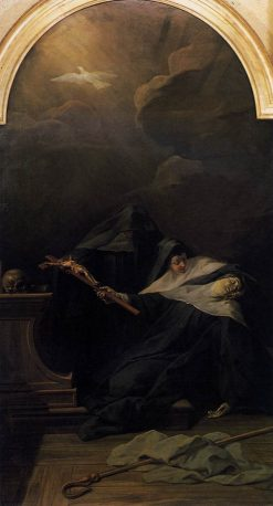 The Death of St Scholastica | Jean Restout | Oil Painting