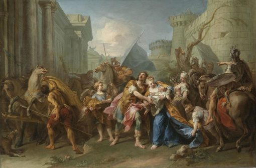 The Farewell of Andromache and Hector | Jean Restout | Oil Painting