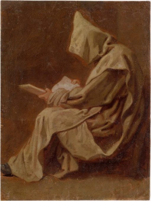Seated Carthusian Holding an Open Book | Jean Restout | Oil Painting