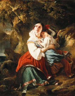The Storm   Franz Xavier Winterhalter   Oil Painting
