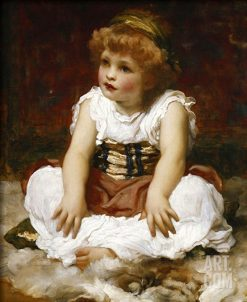 Portrait of a Girl Seated on a Rug | Sir Frederic Lord Leighton | Oil Painting