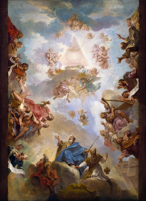 Prophets and Kings of the Old Testament Adoring the Name of Jehovah | Nicolas Bertin | Oil Painting