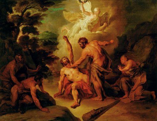 Hercules Fighting Achelous   Nicolas Bertin   Oil Painting
