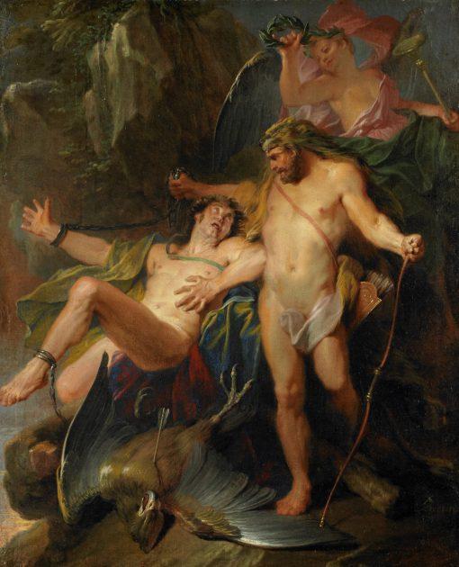 Hercules Delivering Prometheus   Nicolas Bertin   Oil Painting