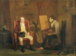 The Artists Studio -  Edward Villiers Rippingille Painting a Portrait | Edward Villiers Rippingille | Oil Painting