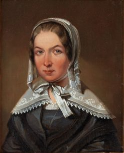 Portrait of Fredrika Bremer   Johan Gustaf Sandberg   Oil Painting