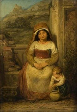 Roman Mother and Child | Edward Villiers Rippingille | Oil Painting