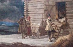 Gustav Vasa on the farm of Anders Perssons   Johan Gustaf Sandberg   Oil Painting