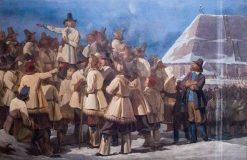Speech of Gustav Vasa to the Dala people   Johan Gustaf Sandberg   Oil Painting
