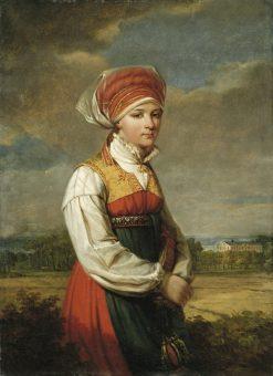 Girl from Vingaker   Johan Gustaf Sandberg   Oil Painting