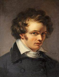 Portrait of Scupltor Bengt Erland Fogelberg   Johan Gustaf Sandberg   Oil Painting