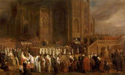 The Funeral Procession of William Canynge | Edward Villiers Rippingille | Oil Painting
