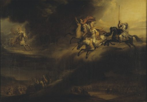 Valkyries Riding into Battle | Johan Gustaf Sandberg | Oil Painting