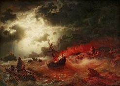 The Burning Ship | Marcus Larson | Oil Painting