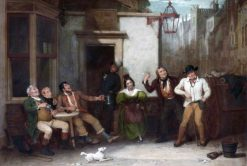 The Progress of Intemperance -  The Invitation to Drink | Edward Villiers Rippingille | Oil Painting