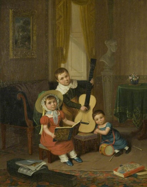 The Young Trio | Edward Villiers Rippingille | Oil Painting