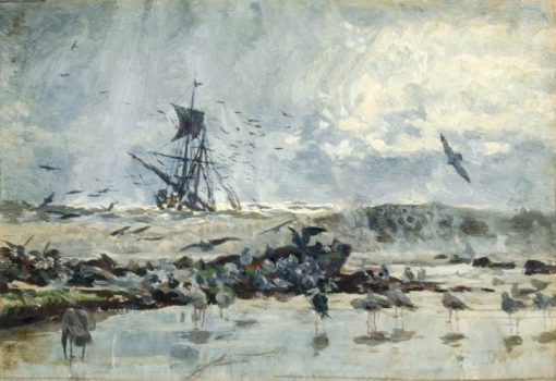 A Ship and Seabirds near the Coast | William Lionel Wyllie | Oil Painting