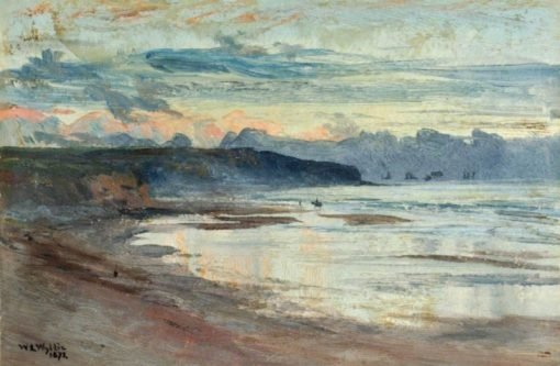 A Coastal Scene at Sunset | William Lionel Wyllie | Oil Painting