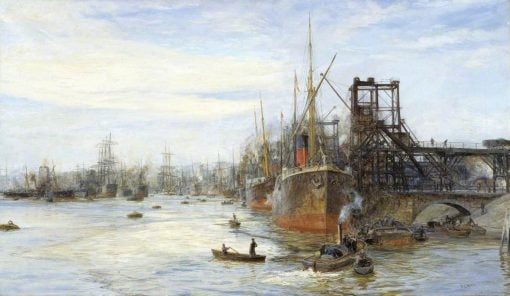 Barry Docks | William Lionel Wyllie | Oil Painting