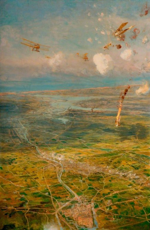 Aerial View of the Western Front | William Lionel Wyllie | Oil Painting