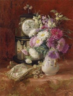 Still life with an Antique Clock | Emil Czech | Oil Painting
