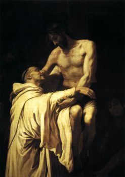 Christ Embracing St Bernard | Francisco Ribalta | Oil Painting