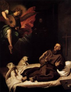 St Francis Comforted by an Angel | Francisco Ribalta | Oil Painting