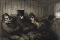 The Second Class Carriage | Honore Daumier | Oil Painting