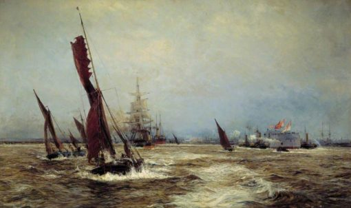 Commerce and Sea Power | William Lionel Wyllie | Oil Painting