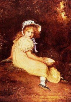 Little Miss Muffet   John Everett Millais   Oil Painting