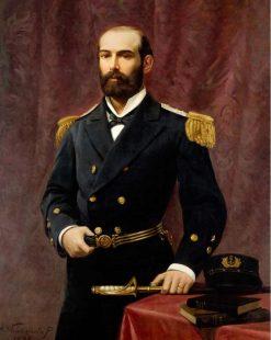 Captain Arturo Prat Chacón   Alfredo Valenzuela Puelma   Oil Painting