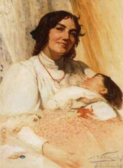 Mother and Child | Alfredo Valenzuela Puelma | Oil Painting