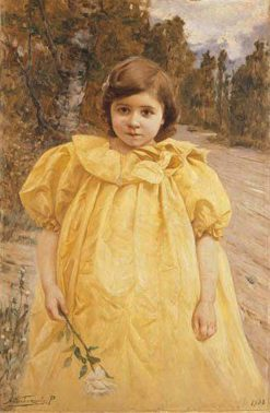 Child in Yellow | Alfredo Valenzuela Puelma | Oil Painting