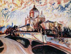 Church at Sunset | Oleksa Novakovsky | Oil Painting