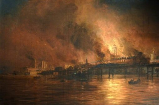 Semaphore Tower on Fire | William Lionel Wyllie | Oil Painting