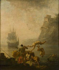 Bathing Men | Pierre-Jacques Volaire | Oil Painting