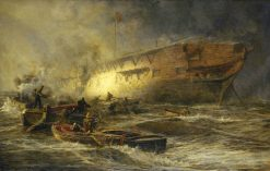 Storm and Sunshine -  A Battle with the Elements | William Lionel Wyllie | Oil Painting