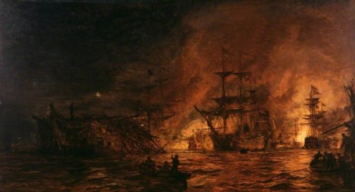 The Battle of the Nile | William Lionel Wyllie | Oil Painting