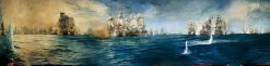 The Battle of Trafalgar Panorama | William Lionel Wyllie | Oil Painting