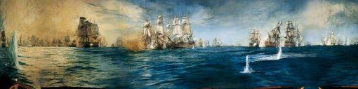 The Battle of Trafalgar Panorama | William Lionel Wyllie | Oil Painting