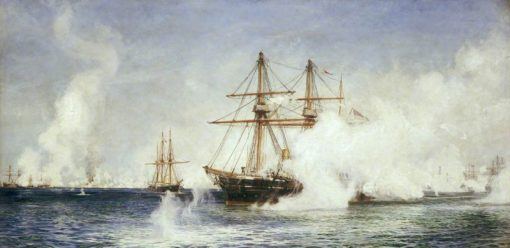 Well Done Condor -  The Bombardment of Alexandria | William Lionel Wyllie | Oil Painting
