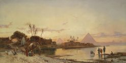 On the Banks of the Nile | Hermann David Solomon Corrodi | Oil Painting