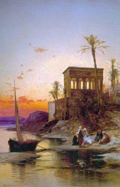 Kiosk of Trajan Philae on the Nile | Hermann David Solomon Corrodi | Oil Painting
