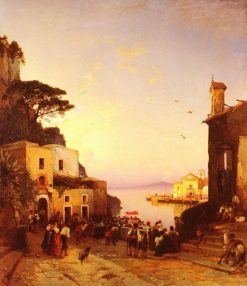 Procession to Sorrento | Hermann David Solomon Corrodi | Oil Painting