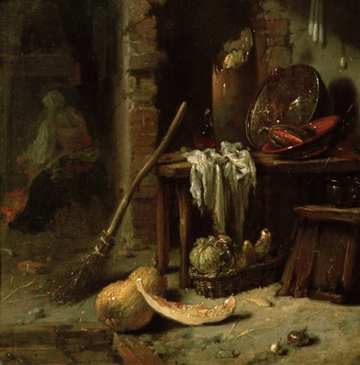 The Kitchen   Willem Kalf   Oil Painting