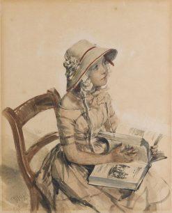 Miss Maercker | Adolph von Menzel | Oil Painting