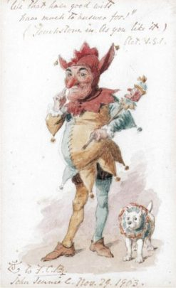 Study of Touchstone the Clown | John Tenniel | Oil Painting