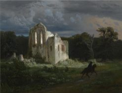 Moonlit Landscape with Ruins | Arnold Böcklin | Oil Painting